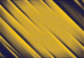 Yellow and dark blue angled halftone texture vector