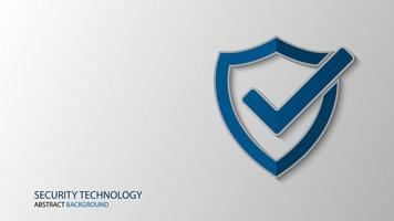 Cyber technology security shield background vector