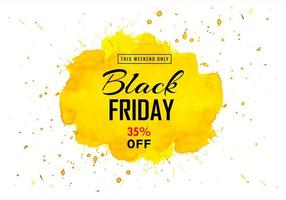 venta de viernes negro tarjeta amarilla splash
