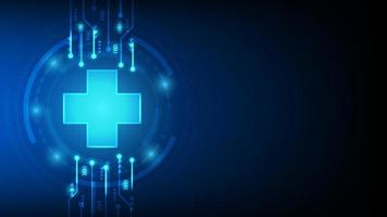 diseño abstracto futurista médico y sanitario vector