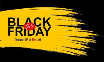 Yellow brush stroke Black Friday sale banner