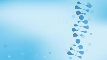 DNA helix structure, science and technology background vector