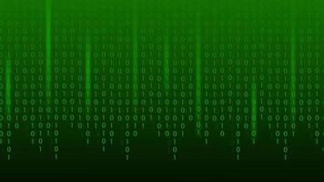 fundo de tecnologia do sumário do código binário da matriz