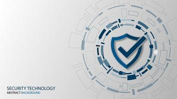 Cyber technology security, network protection background  vector