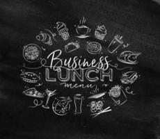 Business lunch sign in chalk style