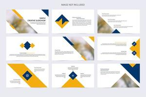 Simple Creative Blue and Yellow Slide Template