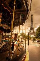 Paris - the Eiffel Tower carousel, france, horse, ride