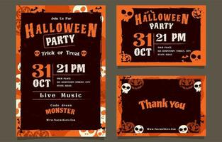 Come And Join Our Halloween Party Invitation vector