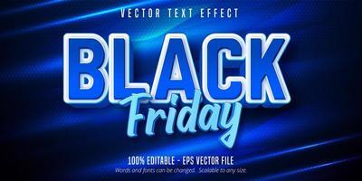 efecto de texto editable de viernes negro vector