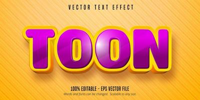 Toon text cartoon style editable text effect