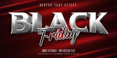 efecto de texto editable de estilo plateado de viernes negro