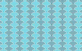 Blue circular wave shape pattern vector