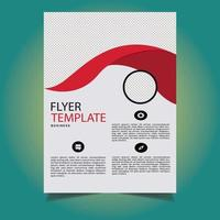 Red Color Shape Business Flyer vector