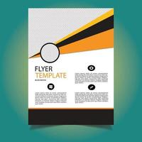 Abstract Orange Shape Business Flyer Template vector