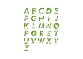Alphabet leaf set vector