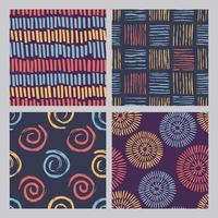 Abstract color grunge textures pattern  vector