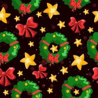 Winter Holiday Decorations Repetitive Pattern