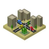 Isometric City or Town Design  vector