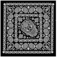 patrón de bandana con calavera y paisley
