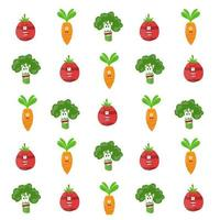 Vegetable Character Cartoon Pattern