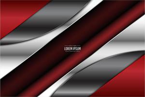 Red and silver metallic technology background