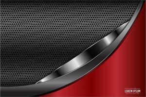 fondo de diseño curvo tecnología roja
