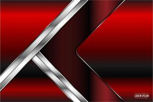 diseño de forma de flecha metálica roja y plateada