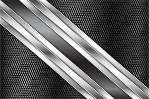 Dark gray metallic background vector