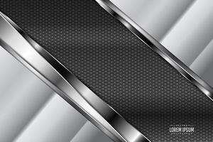 Fondo de metal con espacio oscuro de fibra de carbono