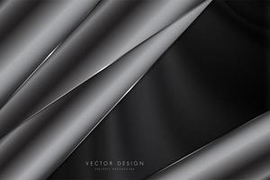 elegante fondo gris oscuro vector