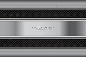 Fondo metálico gris oscuro con tiras de fibra de carbono.