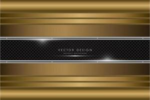 Luxury gold and silver metallic background vector