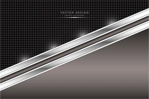 Brown and silver metal with carbon fiber texture vector