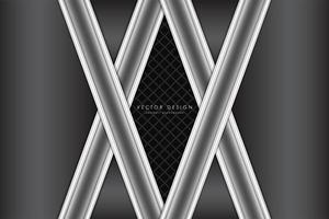 Luxury metallic gray background vector