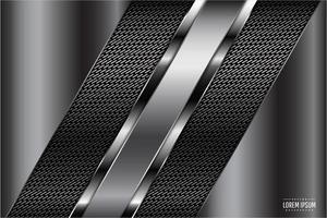 Paneles metálicos grises con textura oscura. vector