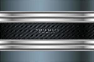 Blue and silver metallic background with carbon fiber vector