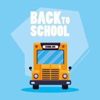 Back to school bus transport poster vector