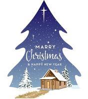 paisaje navideño en forma de árbol