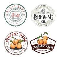 conjunto de logotipo de comida y bebida