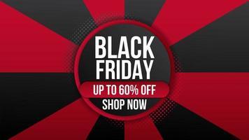 folleto de banner promocional de venta de viernes negro