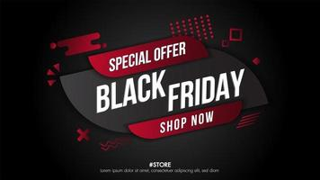 banner de venta geométrica de viernes negro