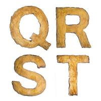 alfabeto antiguo, vintage qrst