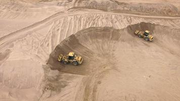 Aerial view of sand quarry