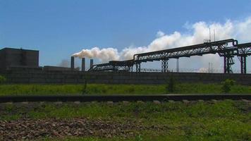 gran planta de energía. video