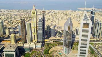 vista aerea sullo skyline della città di dubai
