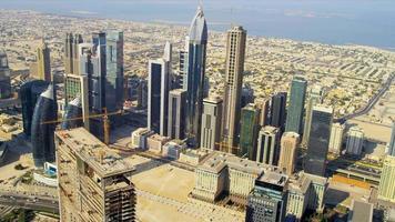 vista aérea do horizonte da cidade de dubai