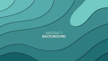 Vibrant tosca colors papercut background vector
