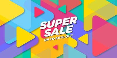 Special Super Sale background with bright color vector