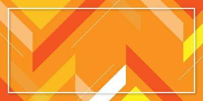 Orange bright abstract geometric background vector