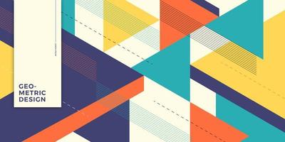 Overlapping triangle forms background concept vector